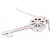 Подвеска серебряная Tiffany маленький белый ключ камни swarovski