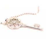 Подвеска серебряная Tiffany большой белый ключ камни swarovski