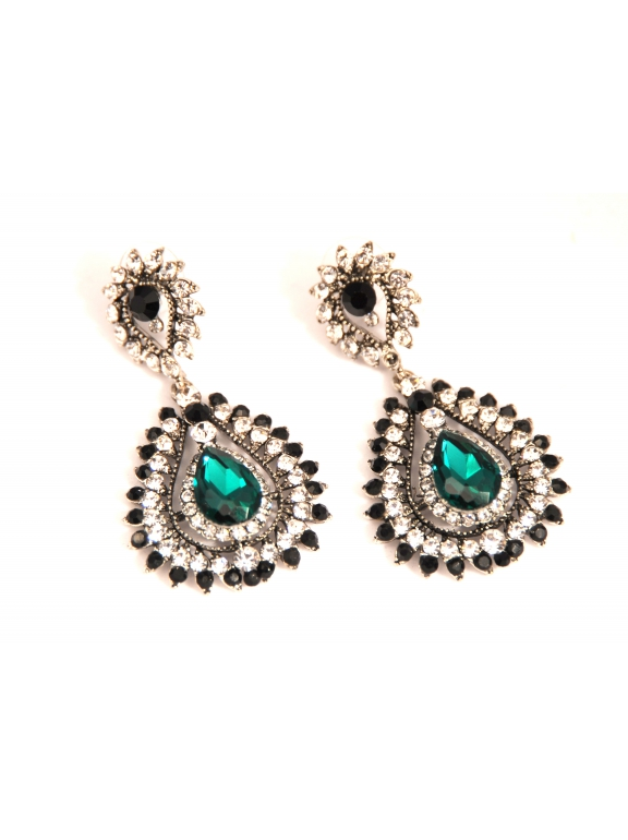 Серьги Dolce & Gabbana овал зеленый камень