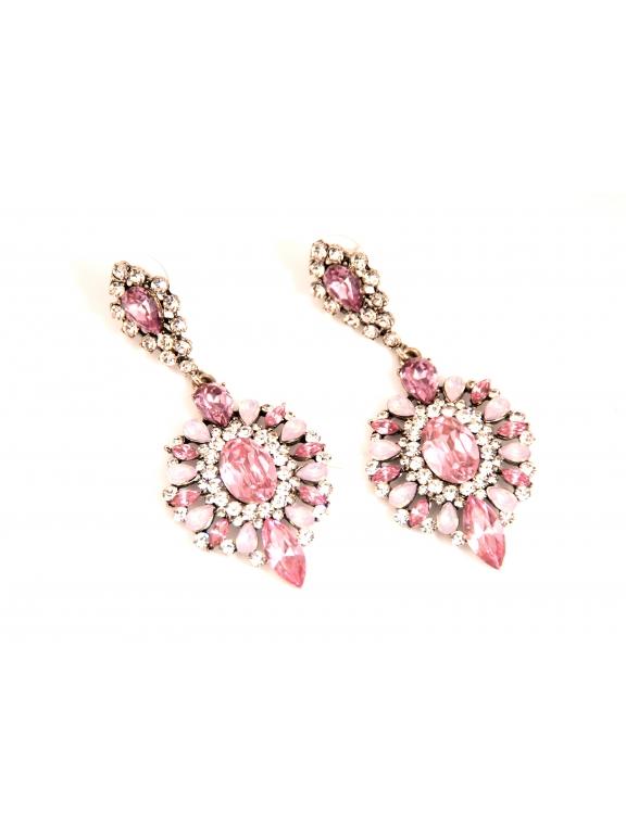 Серьги Dolce & Gabbana овалы розовый камень лунные камни