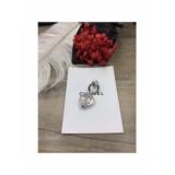 Белая Брошка Chanel значок сердечко прозрачный белый