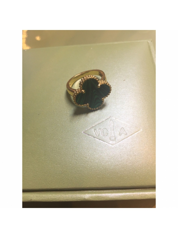 Золотое Кольцо зеленый цветочек в золоте