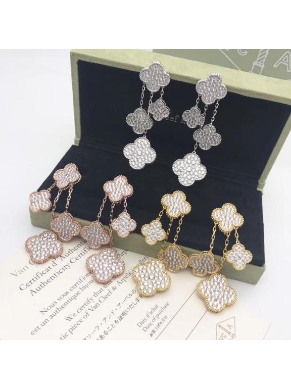 Четверные Камни Серьги Van Cleef & Arpels в золоте