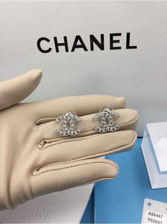 Белые Серьги Chanel белый значок камни