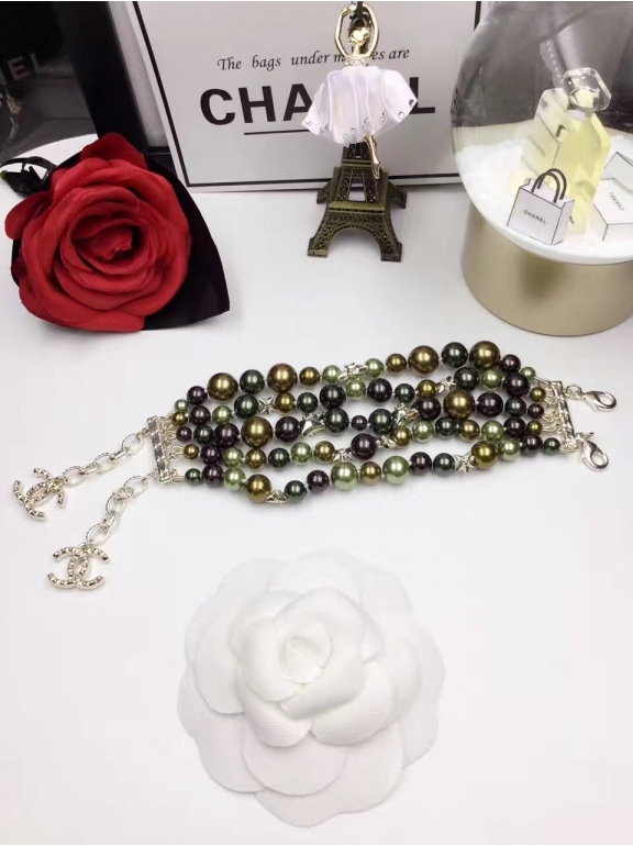 Зеленый Браслет Chanel звезды зеленые