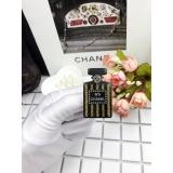 Черная брошка Chanel флакон духов