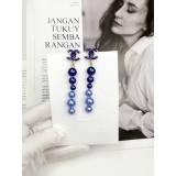 Сине - Лиловые Серьги Chanel жемчужинки синий матовый значок