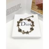 Браслет Christian Dior черно - золотой эмаль сердце звезда клевер