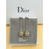 Серьги Christian Dior золотой шарик звезды CD черная эмаль