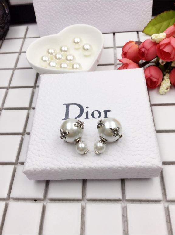 Серьги Christian Dior пусеты пчелки