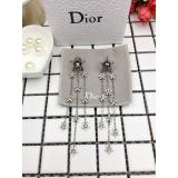 Серьги Christian Dior звезда жемчужинка гроздья маленьких звезд камни