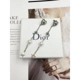 Серьги Christian Dior сердце жемчужинка камни висюльки