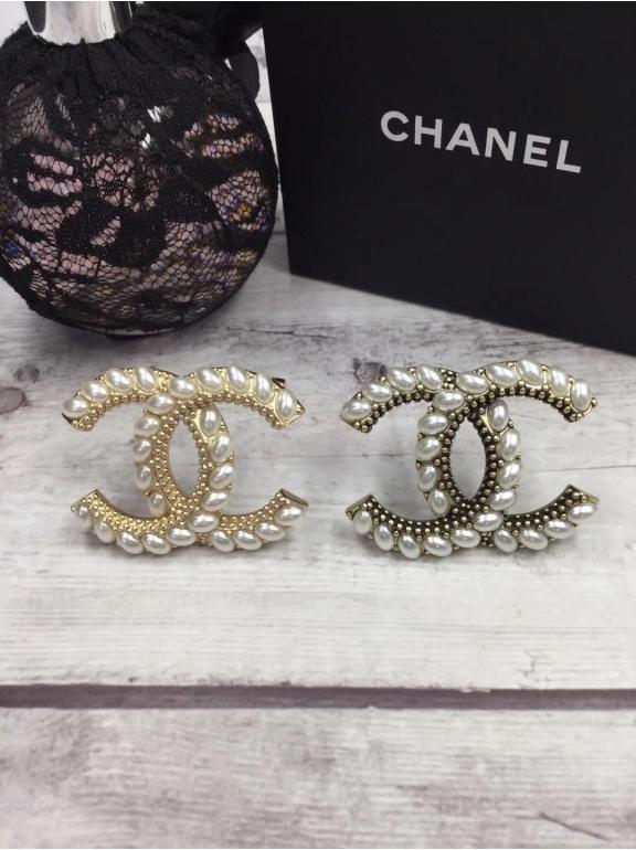 Бронзовая Брошка Chanel значок жемчужинки