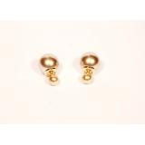 Золотые матовые серьги - пусеты Christian Dior