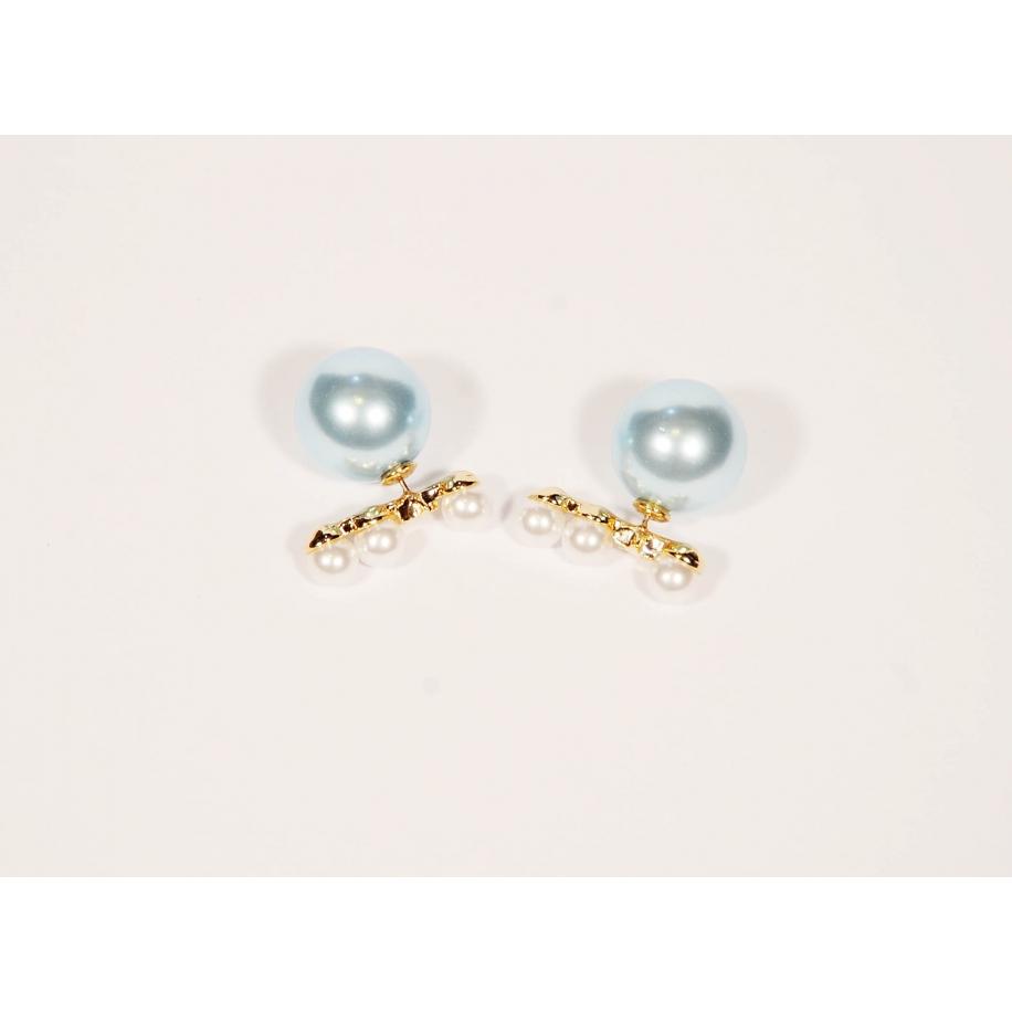 Голубые серьги - пусеты Christian Dior