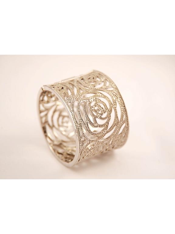 Белый браслет Chanel камни swarowski