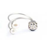 Белый матовый браслет Christian Dior жемчужинки