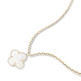 Белая Подвеска в стиле VCA один цветочек в золоте