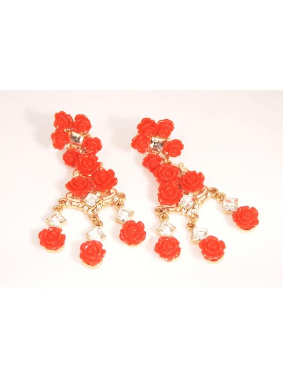 Серьги Dolce & Gabbana розочки висюльки
