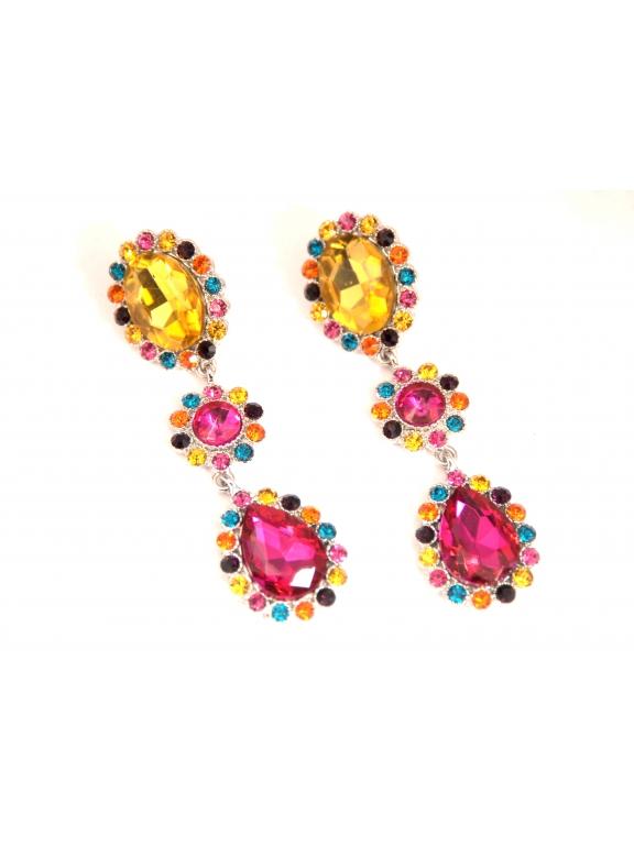 Серьги Dolce & Gabbana камни висюльки