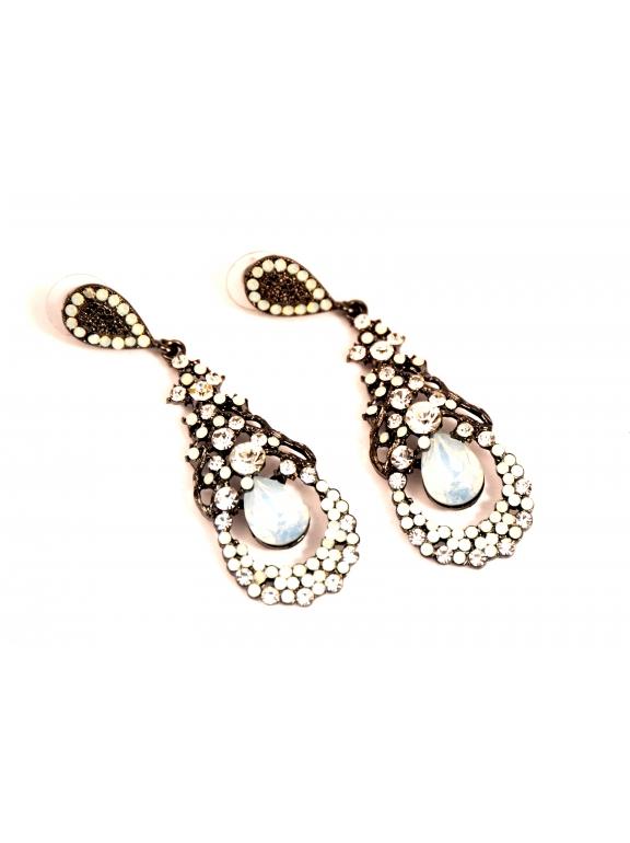 Серьги Dolce & Gabbana овалы цвет лунного камня