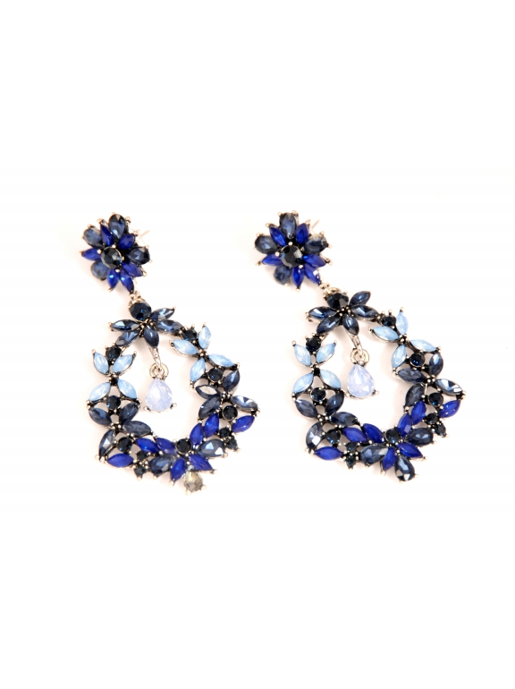 Серьги Dolce & Gabbana голубо - синие цветы
