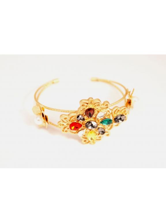 Браслет Dolce & Gabbana разноцветные камни цветы