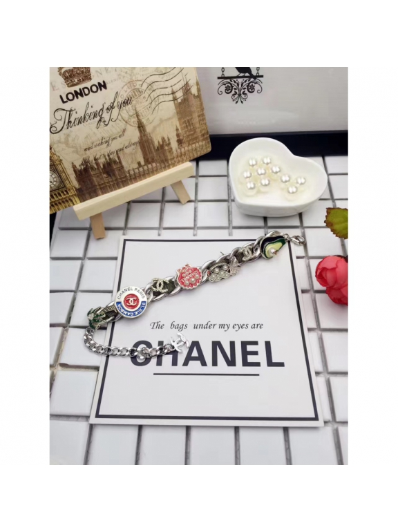 Золотой Браслет Chanel авокадо - ракушка - пальма