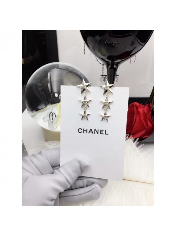 Золотые Серьги Chanel звезды золото
