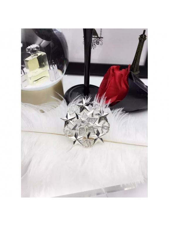 Золотая Брошка Chanel золотая звезда камни