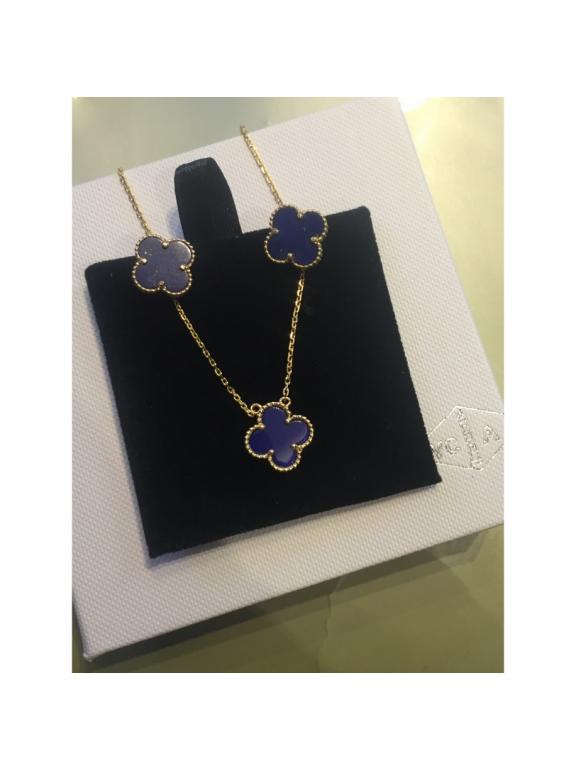Синие Серьги Van Cleef & Arpels в золоте