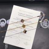 Коричневый Браслет Van Cleef & Arpels один цветочек в золоте