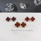 Средние Красные Серьги Van Cleef & Arpels в золоте
