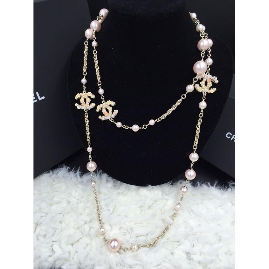 Колье Chanel Розовое Камни Цветы