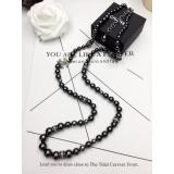 Колье Chanel Черные Жемчужинки Камни