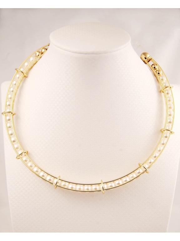 Золотое колье Christian Dior жемчужинки