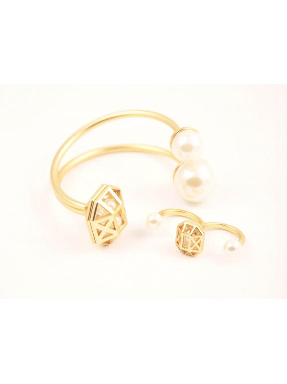 Золотое матовое кольцо Christian Dior безразмерное