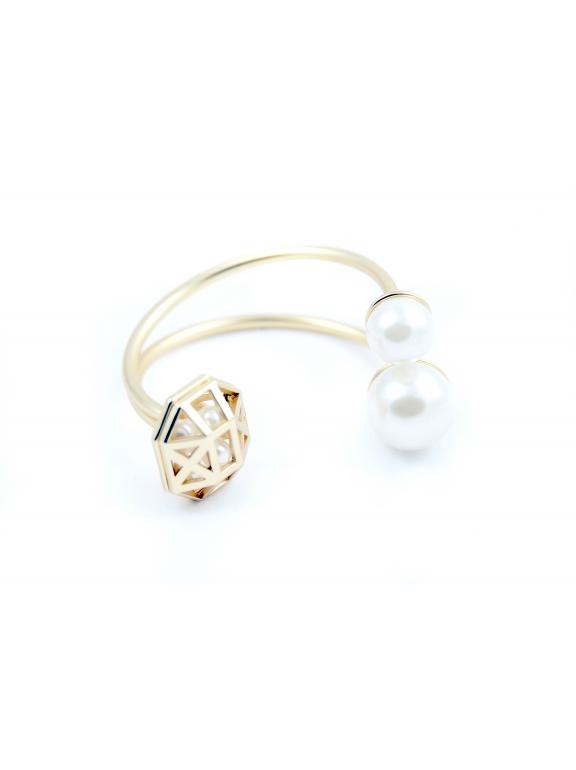 Золотой матовый браслет Christian Dior жемчужинки